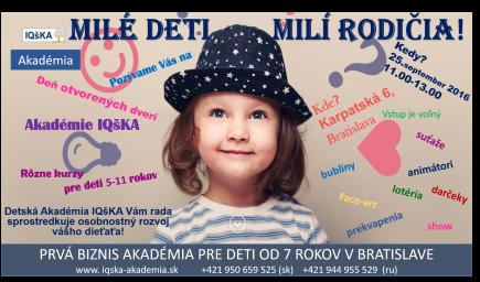 Deň otvorených dverí Akadémie IQšKA