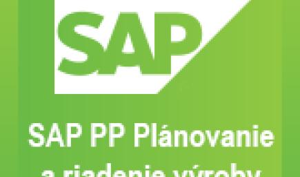 SAP PP Plánovanie a riadenie výroby
