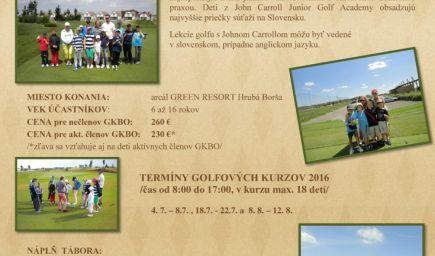 Prázdninový golfový tábor s John Carrollom