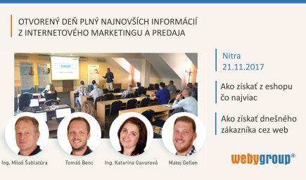 Otvorený deň ZDARMA Nitra - 2 v 1 pre váš eshop aj firemný web