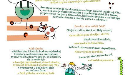 Osmijankova literárna záhrada šk. rok 2019/2020 - Osmijanko hľadá čítajúce školy a čítajúce rodiny