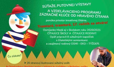 Osmijankova literárna záhrada pre školský rok 2020/2021 - Osmijanko aj v tomto ročníku hľadá čítajúc