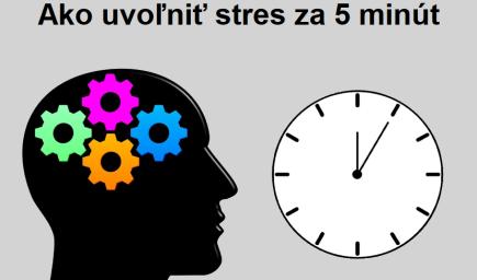 Ako uvoľniť stres za 5 minút