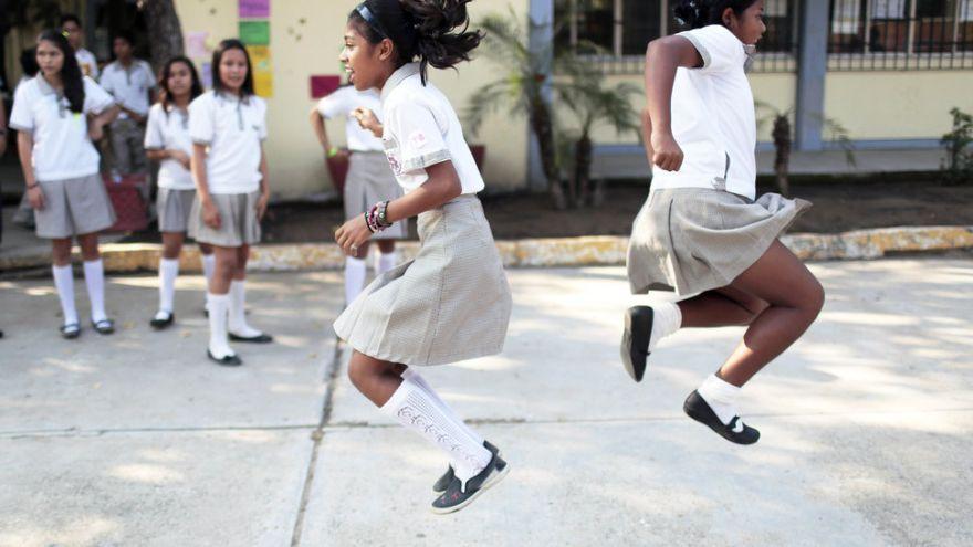 Školáčky v Mexiku