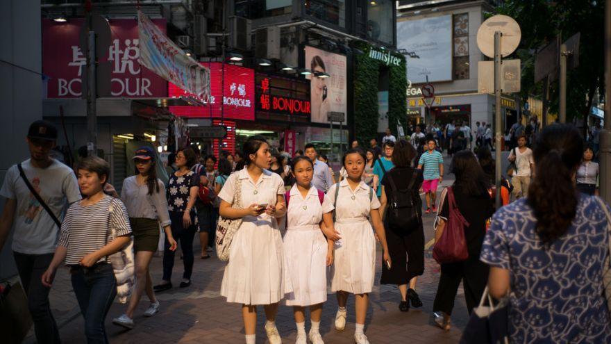 Študentky v Hong Kongu