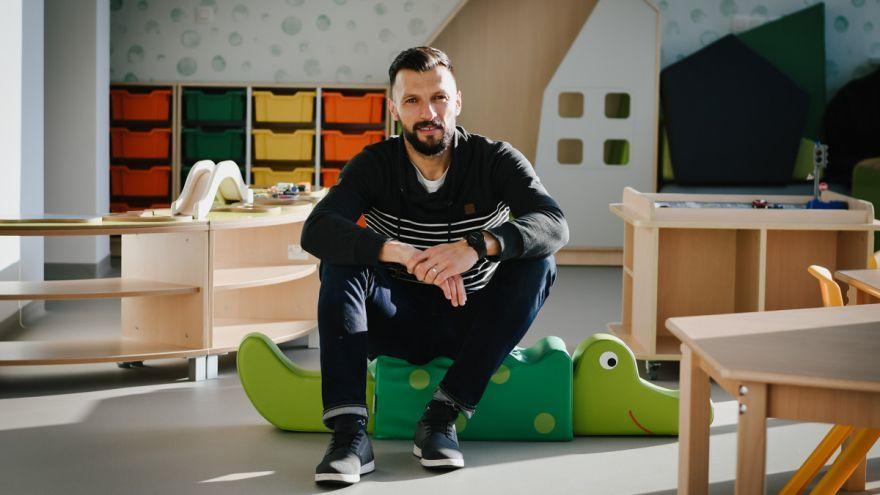 Michal Kubalák, riaditeľ materskej školy littleBIG na Kramároch v Bratislave / Foto: Zuzana Gránska