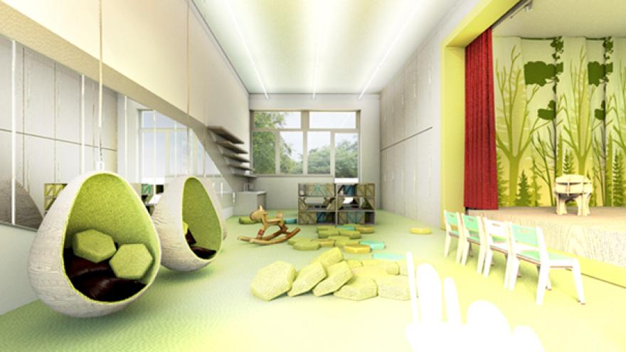 Veľká trieda s divadlom v materskej škole littleBIG