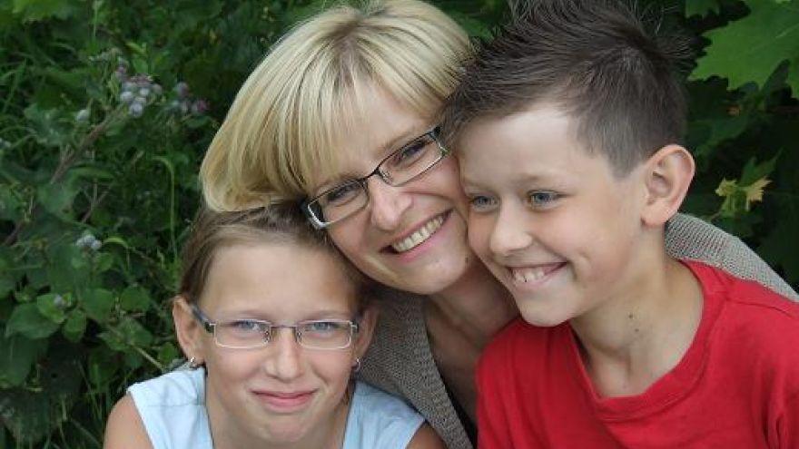 Gabriela Futová so svojimi deťmi