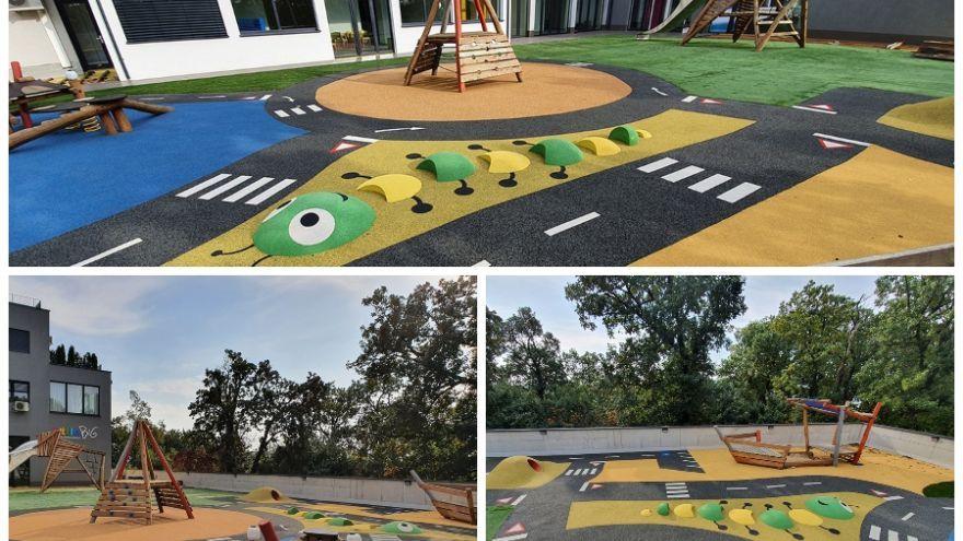 Veľkorysé vonkajšie ihrisko v materskej škole littleBIG