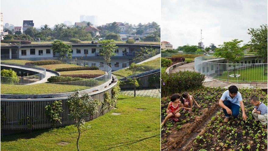 Moderná vietnamská farmárska škôlka učí deti pestovať vlastné jedlo