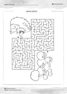 Nájdi cestu - bludisko ježko