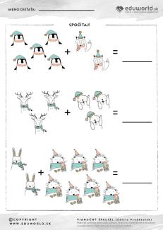 Spočítaj zvieratká a precvič si písanie čísel!